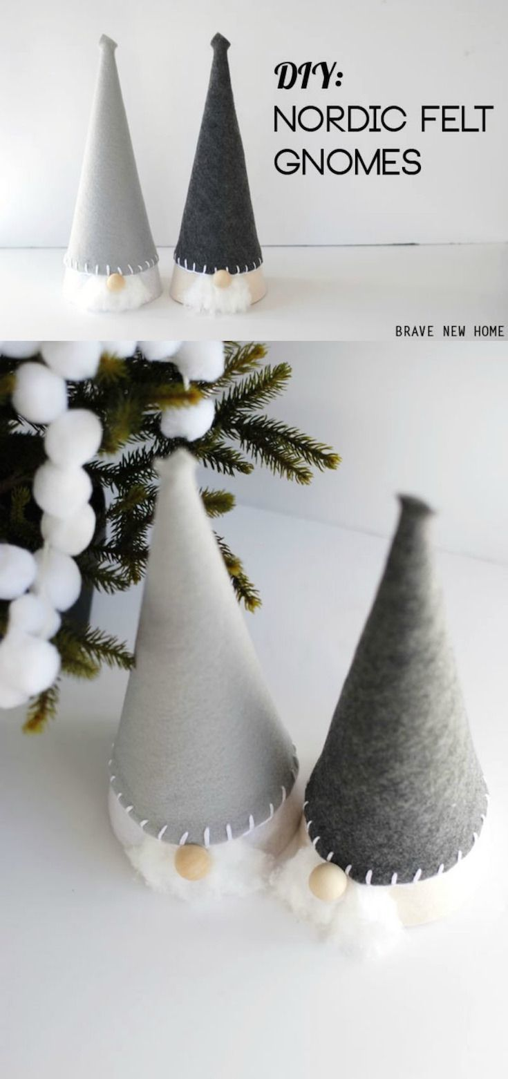 How to Make a Gnome for Christmas: Scandinavian Inspired! - DIY Candy
