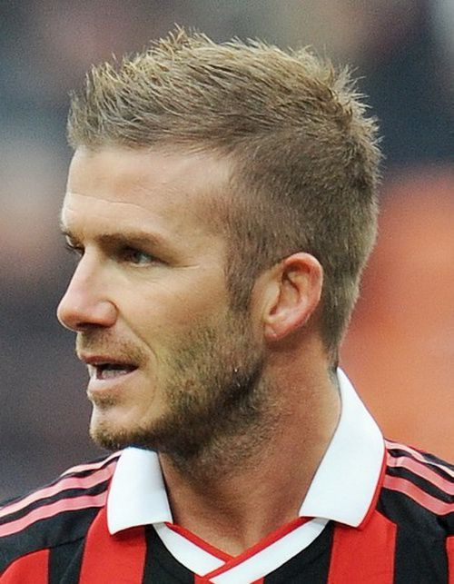 2017 David Beckham S Dirty Blonde Short Cropped Spike Up Style