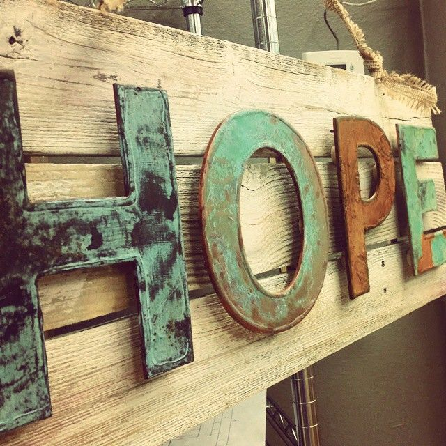 Modern Metal Letters Captivating Patina Lettering With Modern Masters Metal Effects  Main Street Inspiration Design