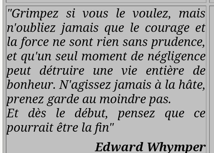 Courage, force, prudence. Edward Whymper