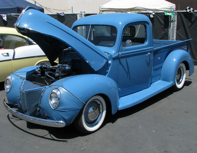Beauty In Blue 1940 Ford Pick Up Truck With Images Classic