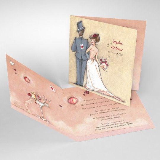 mariage – Tendre espièglerie beige rose