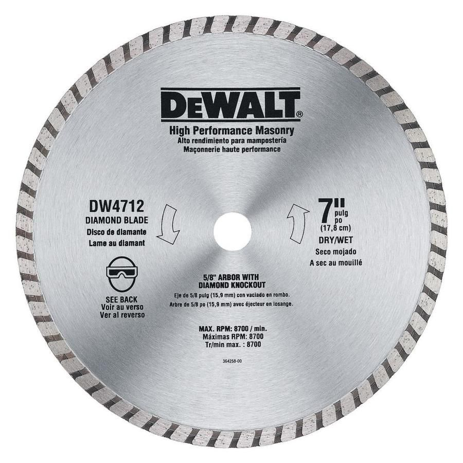 Dewalt Diamond 7 In Grit Grinding Wheel Dw4712 Circular Saw Blades Blade Masonry Work