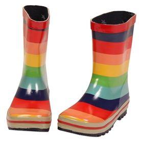 girls rainbow rain boots