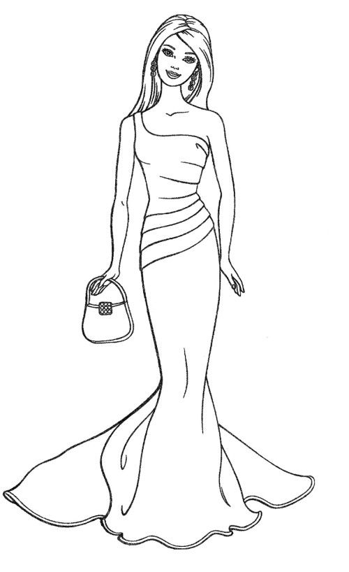 Barbie Carry Bag Coloring Pages | my board | Pinterest