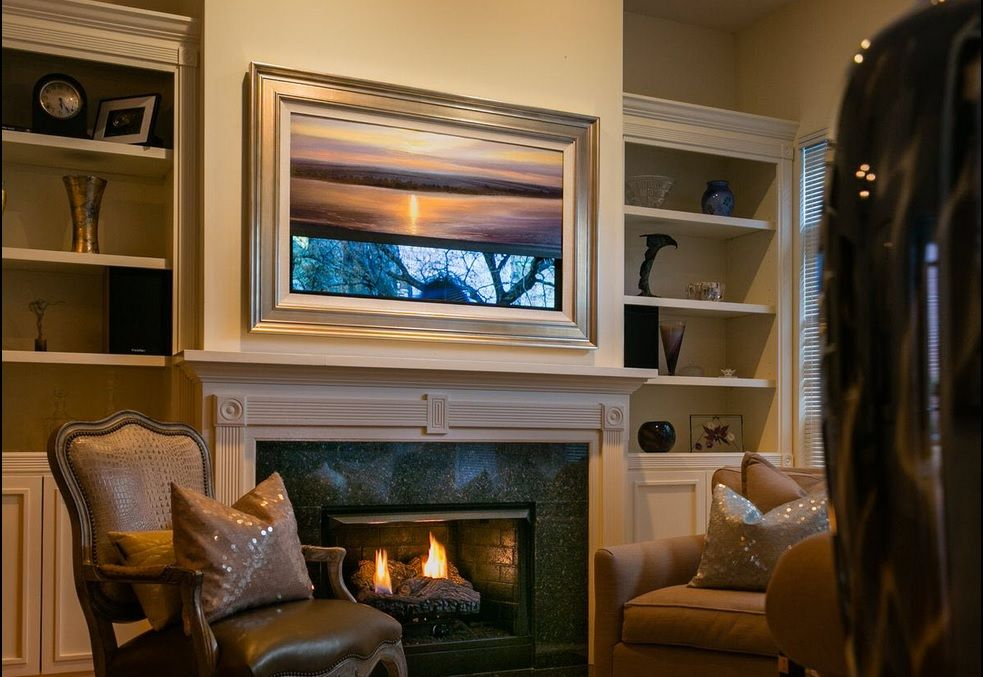 FRAME MY TV : Let Frame My TV conceal your flat screen with a framed ...
