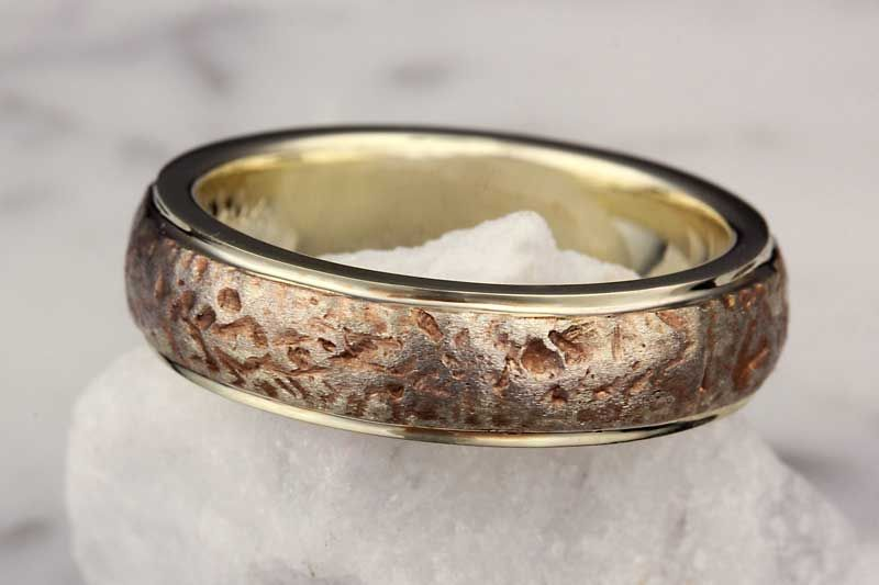 Ancient Roman Wedding Band With Rails This Heavy Textured Band Is