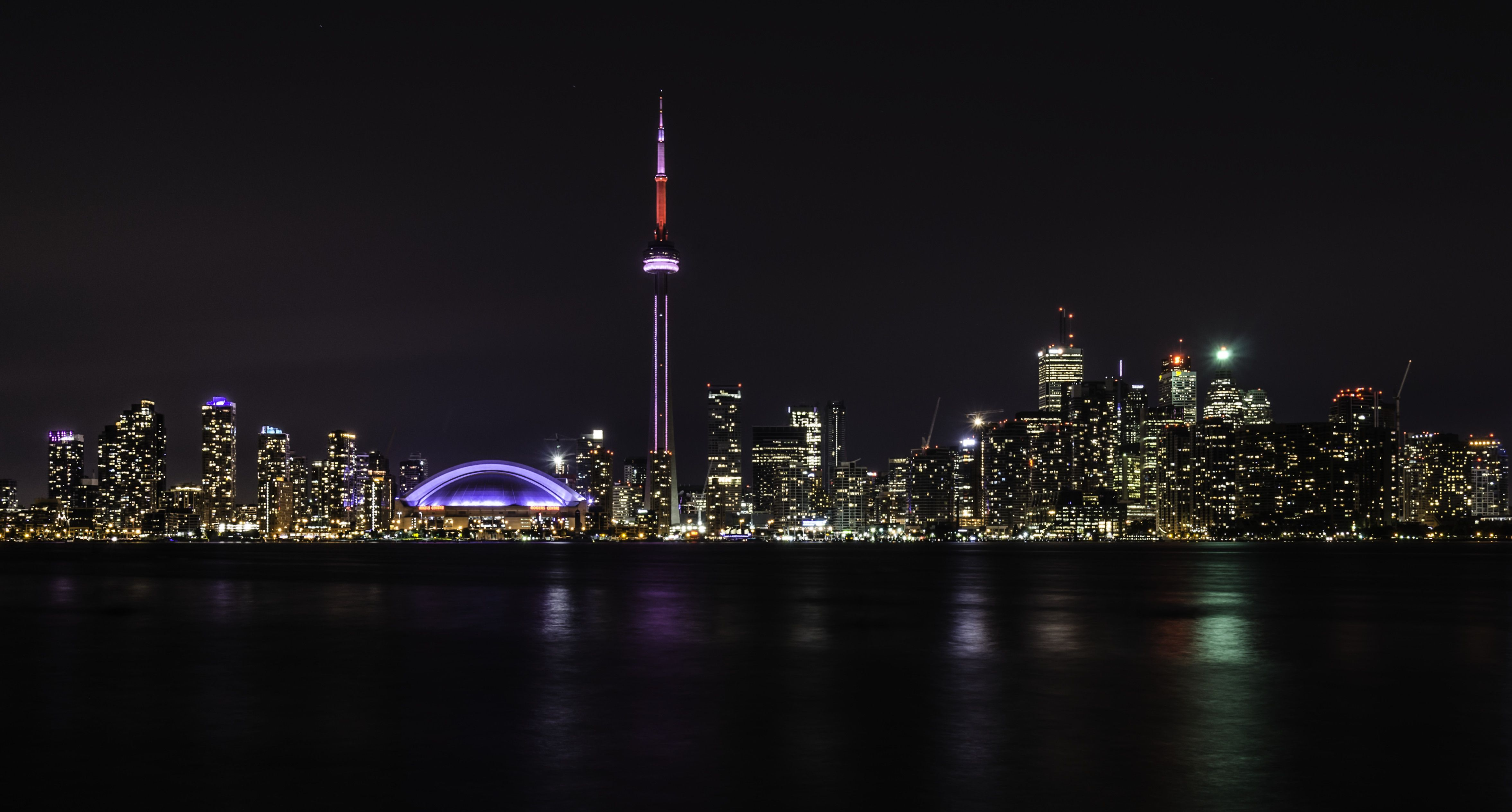 Toronto, Canada Toronto skyline, Toronto, Black and white