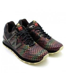 56,38 € : Zapatillas Running New Balance ML574TSN 2013 Año de la serpiente  Hombre [verde vibrante tricolor](Las zapatillas deportivas New Balance® …