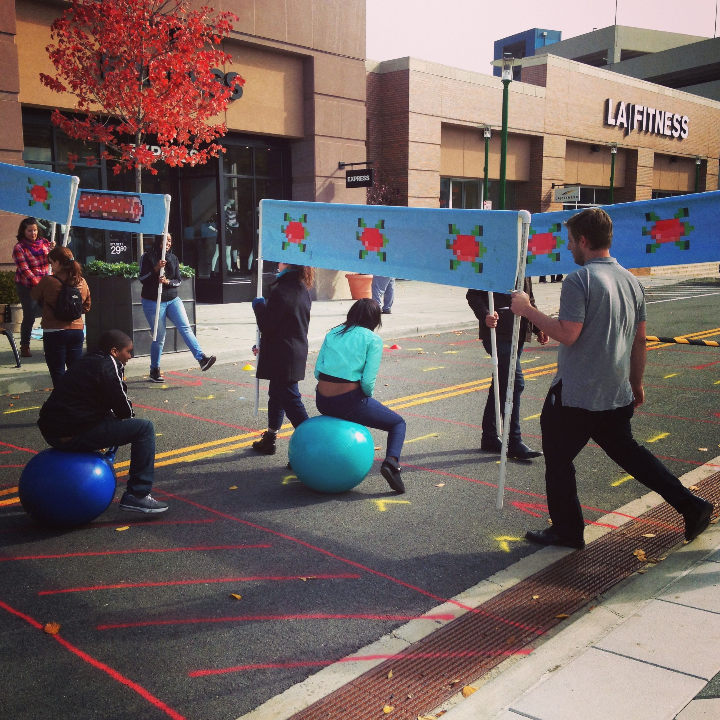 Interactive field frogger with esi designs at westchester