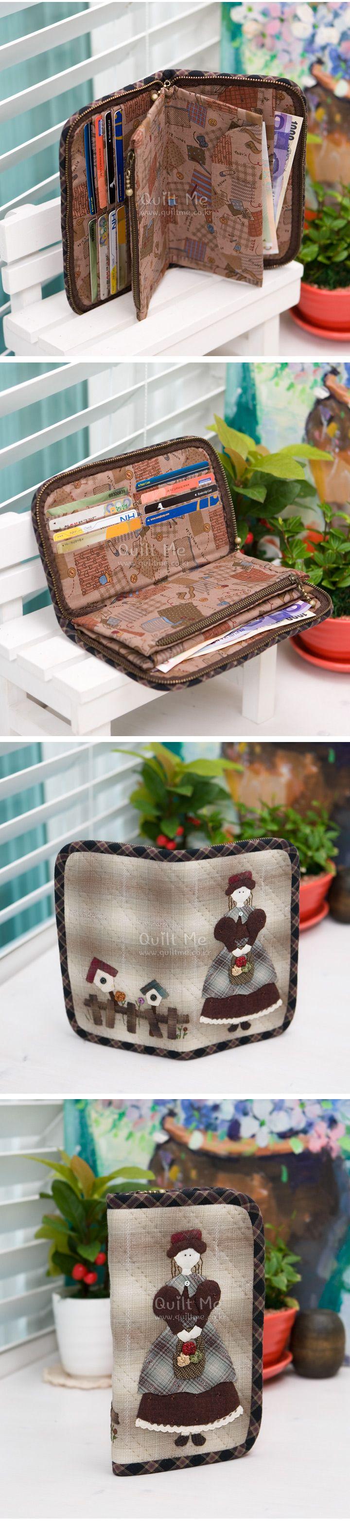퀼트미 [꽃바구니 소녀 장지갑 (패턴)] | Tašky,peněženky | Pinterest ...