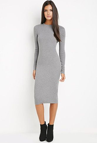 216e453371 Midi Bodycon Sweater Dress