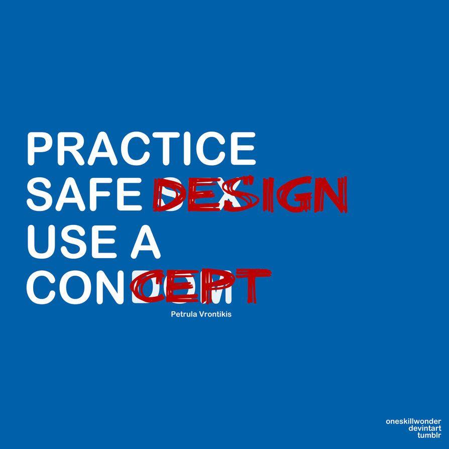 practice safe design use a concept copywriting design designer