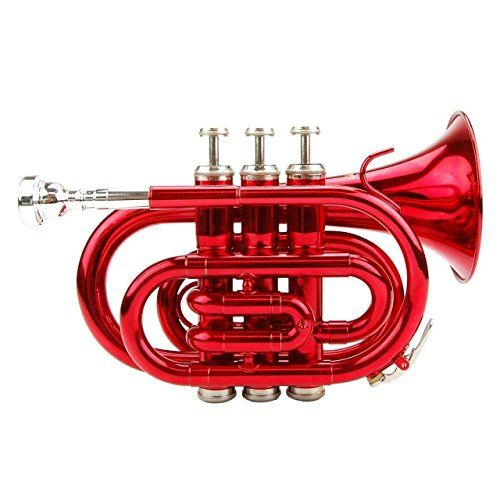 Red Pocket Trumpet, 2015 Amazon Top Rated Trumpets #MusicalInstruments