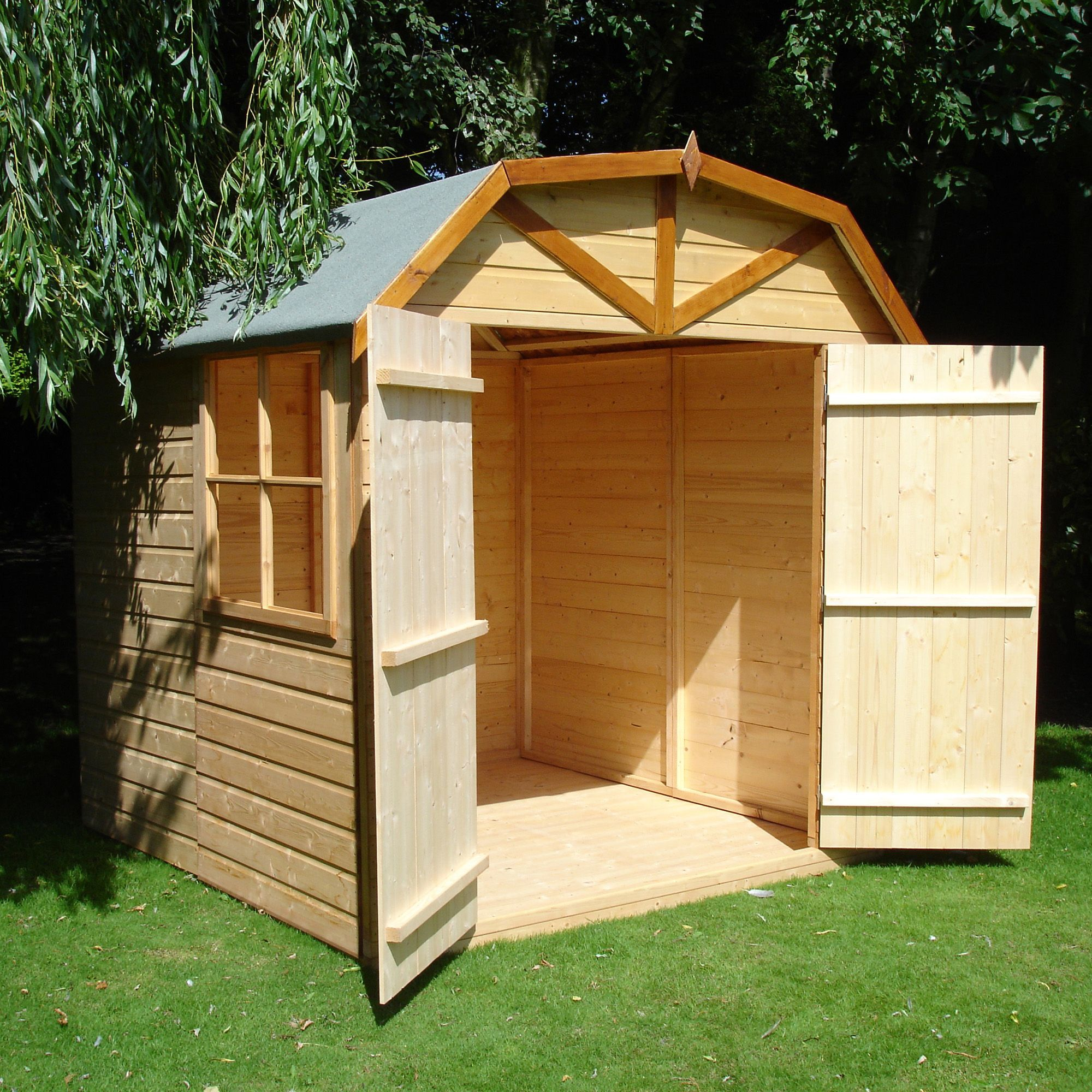 7X7 Double Door Dutch Apex Shiplap Wooden Shed