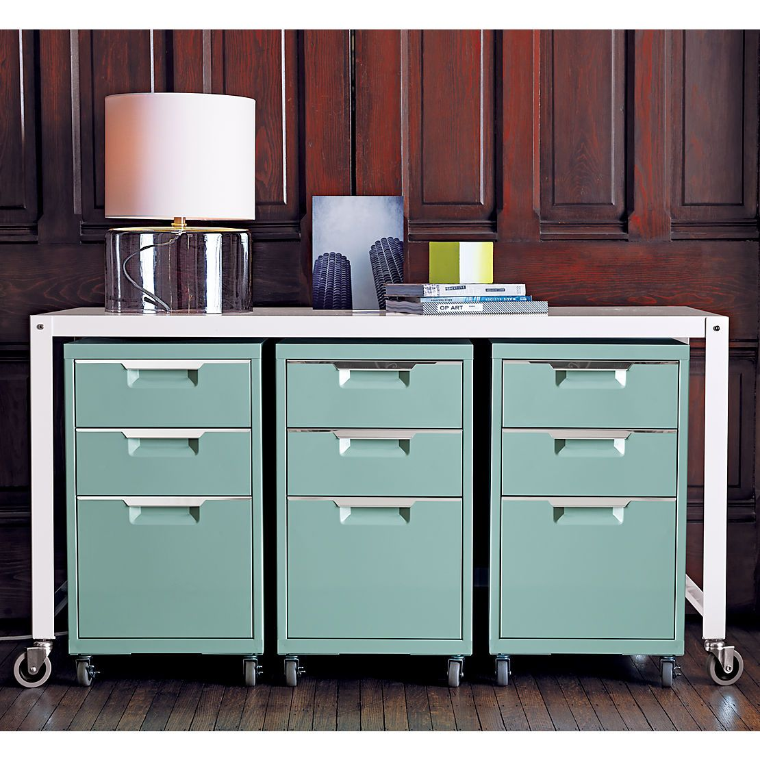 Beau Carbon File Cabinet In Office Furniture | CB2