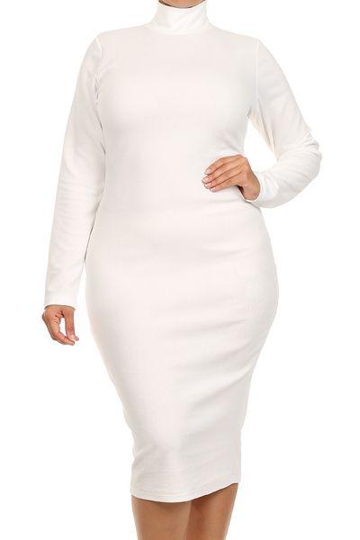 Black Spandex Catsuit/Bodysuit | White turtleneck