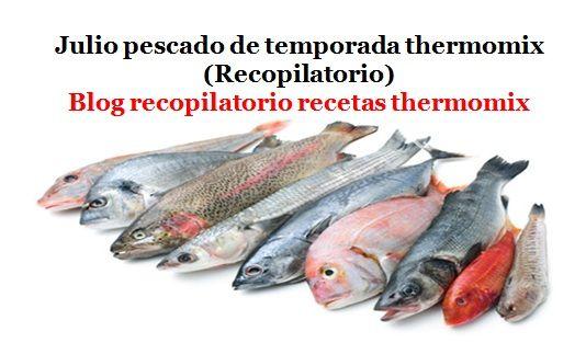 Recopilatorio de recetas thermomix: Julio pescado de temporada 2016 thermomix (Recopilatorio)