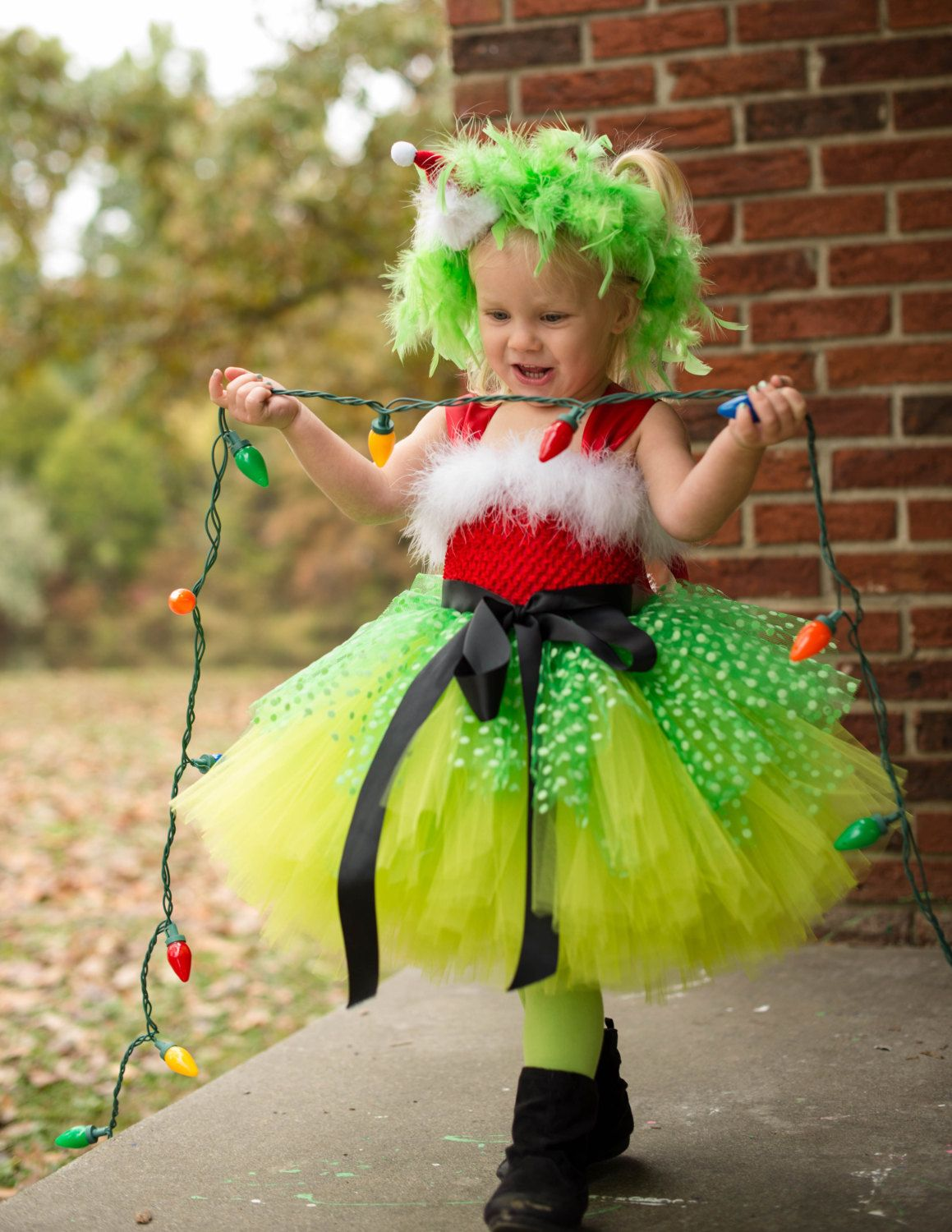 Grinch Tutu Dress - Grinch Costume - Christmas Photo Outfit - First  Christmas - Whoville Costume - Baby Christmas Dress - Christmas Tutu by ...