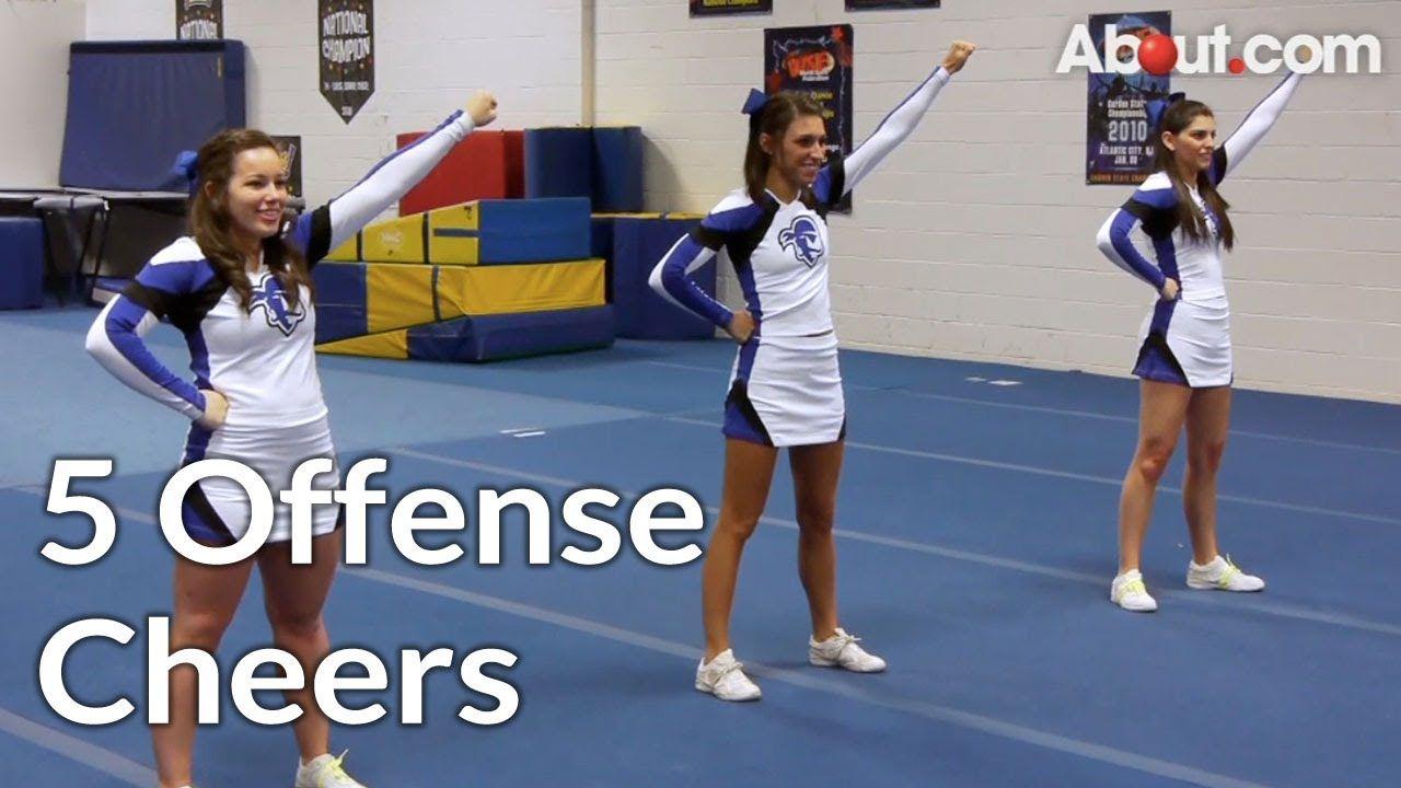 5 offense chants cheerleading routine cheer coaches