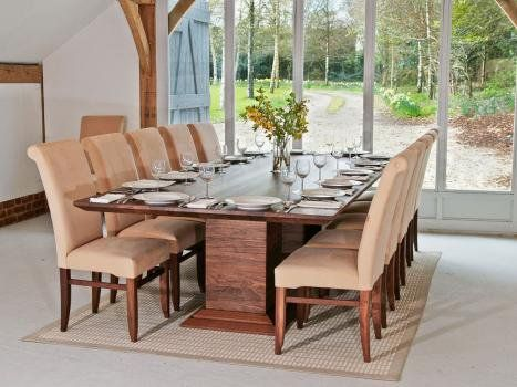 Large Wide Walnut Dining Table Extra Large Oak Dining Tables