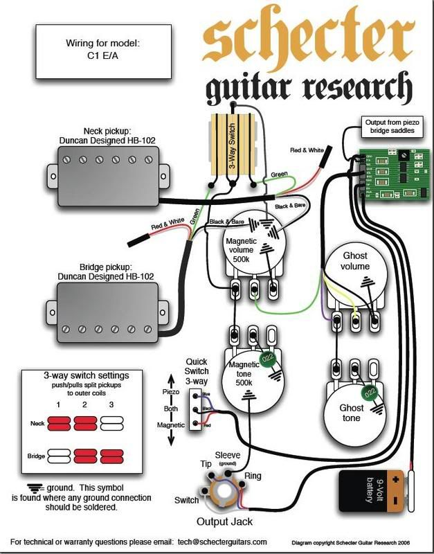 C1 E A Wiring Diagram Schecter Schecter Guitars The Originals