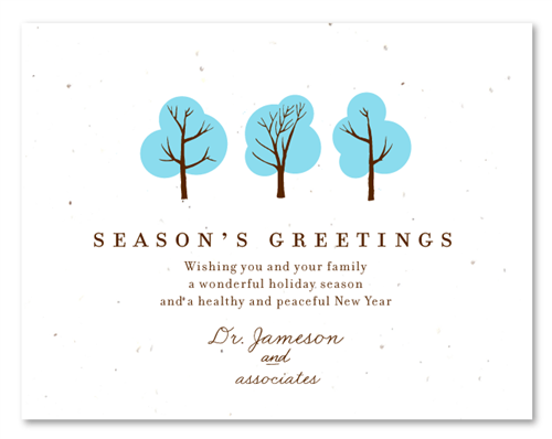 Plantable business holiday cards doctors wishes