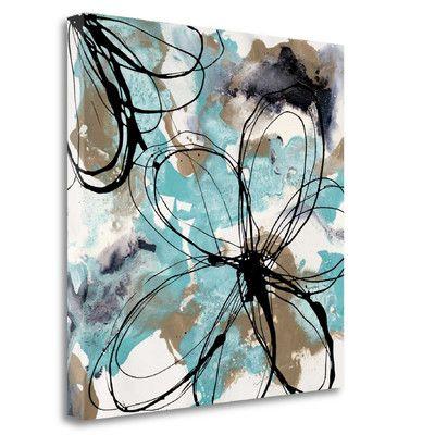 Tangletown Fine Art Free Flow Ii Graphic Art Print On Wrapped Canvas Wayfair Canvas Art Framed Art Prints Art