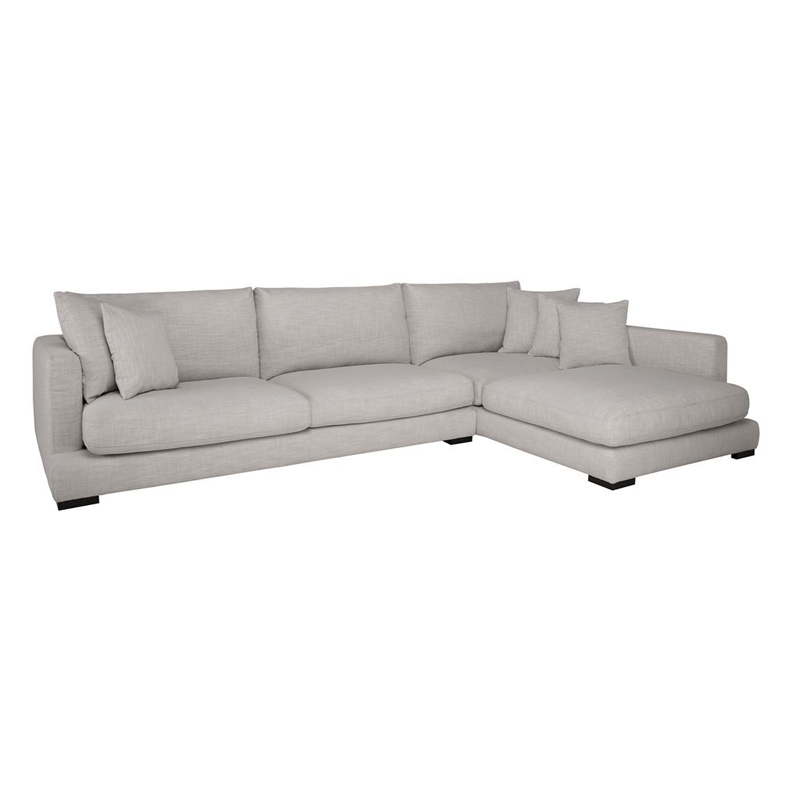 Hamilton 3 Seat Fabric Modular Sofa With Right Terminal Steel Grey Modular Sofa Furniture Comfy Couch