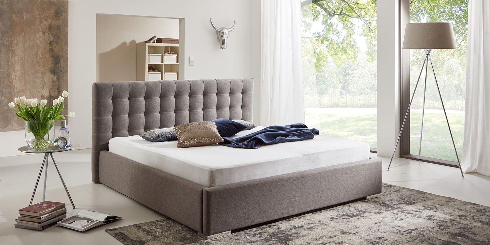 Bett Mit Bettkasten Jimmy Webstoff Bett Mit Bettkasten Bett