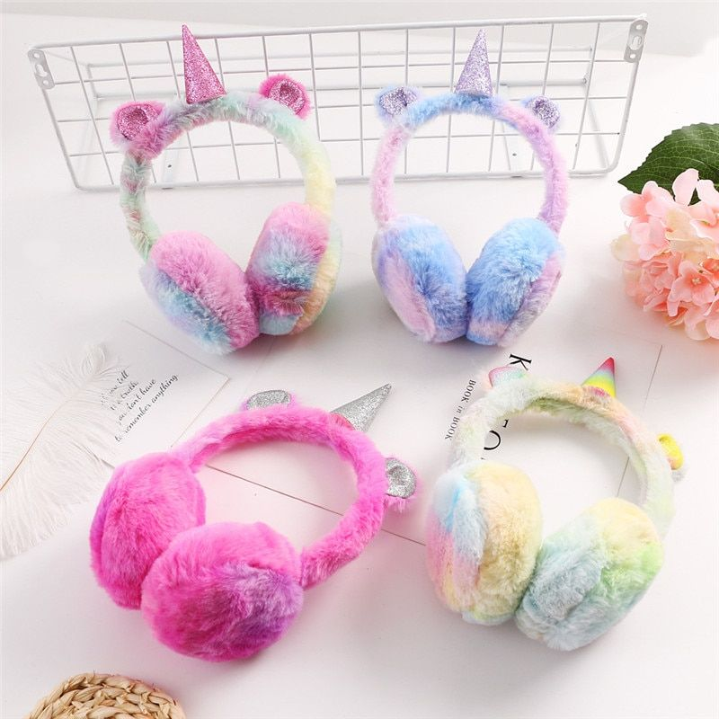 FUYU Unisex Earmuff Soft Plush Ear Warmers Winter Earmuffs