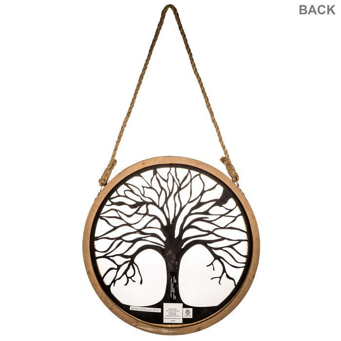 Round Wood And Metal Tree Wall Decor Small Round Wood & Metal Tree Wall Decor  Metal Trees  Pinterest
