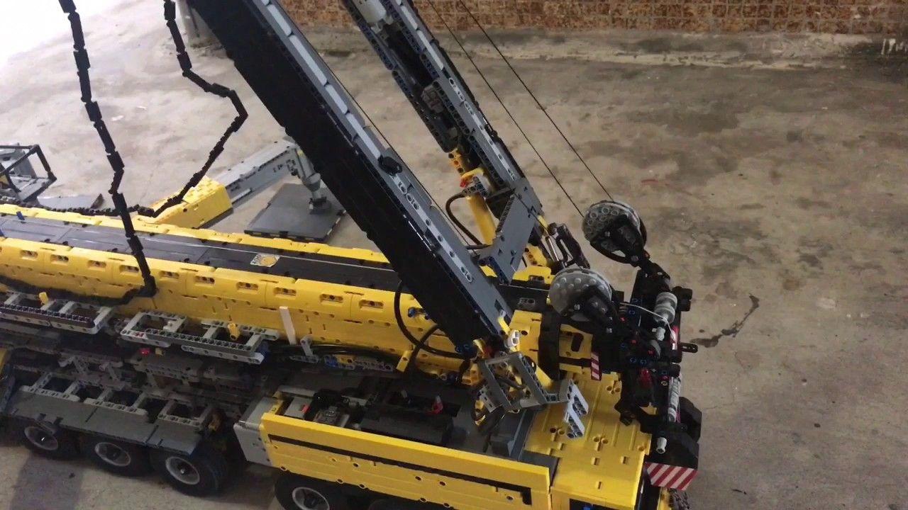 Lego Technic Full Rc Mobile Crane 91 V2 Youtube 9f Work Shop