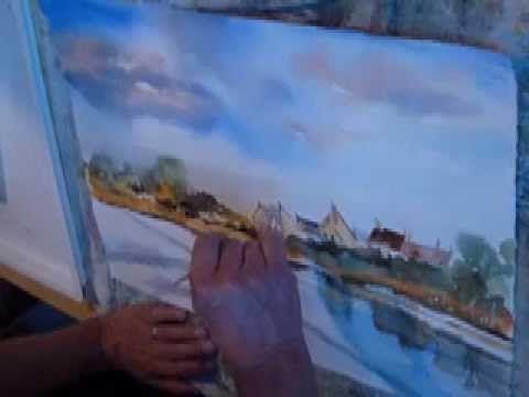 Le Ciel Et L Eau Demonstration Aquarelle Aquarelle Peinture