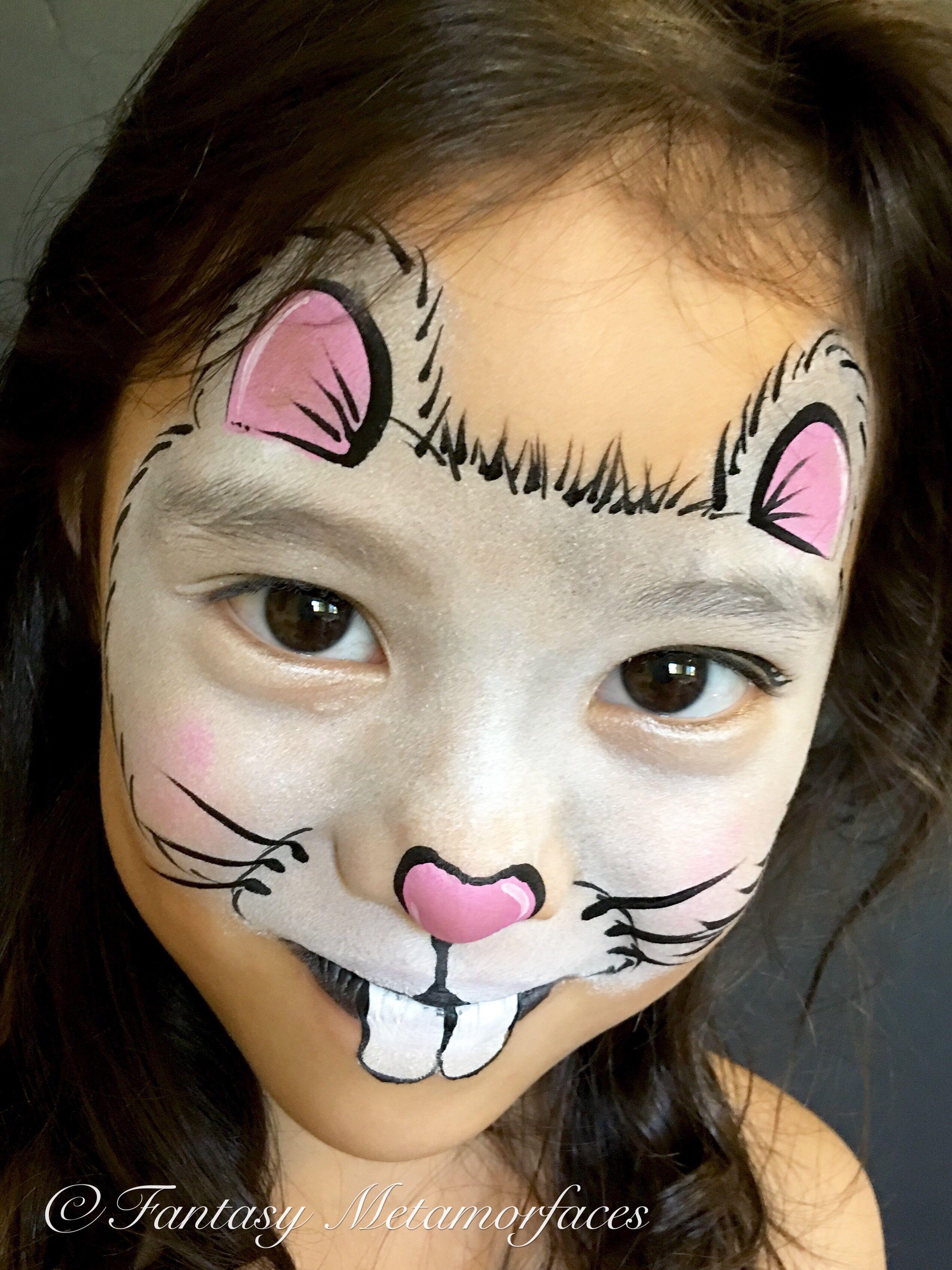 Mouse Face Paint : mouse, paint, Mouse, Painting, Paint,, Easy,, Paint