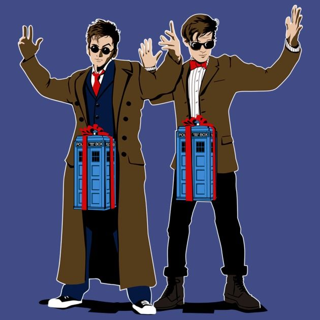 DOC IN A BOX: TARDIS LOVERS T-Shirt #12doctor