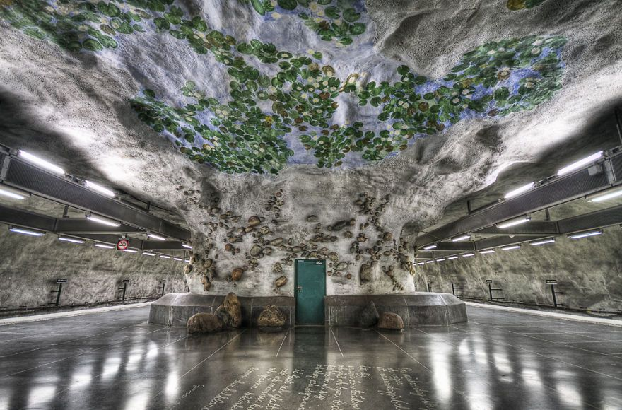 "Metro station: Stockholm, ""the Water Lily Station"" - Näckrosen"