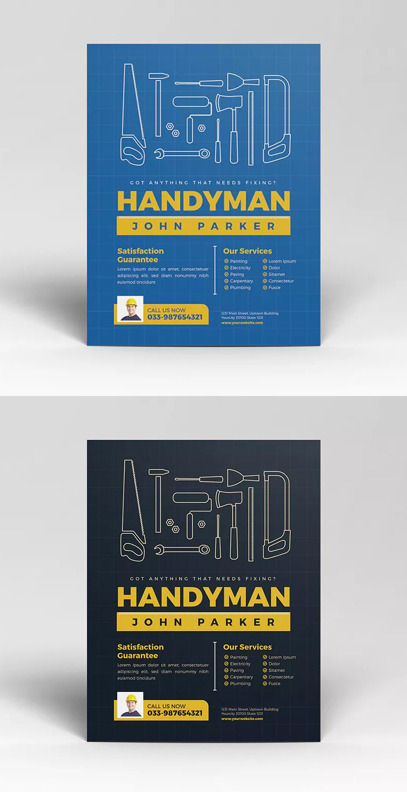 Handyman flyer by guuver on envato elements flyer flyer