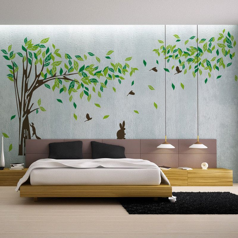 Living Room Wall Decals Bedroom Wall Sticker TV Background Wall Decal