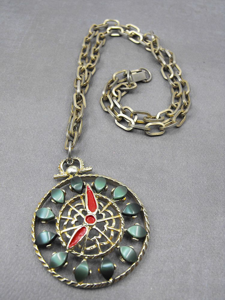 Unusual vintage green thermoset faux pocket watch pendant necklace unusual vintage green thermoset faux pocket watch pendant necklace aloadofball Image collections
