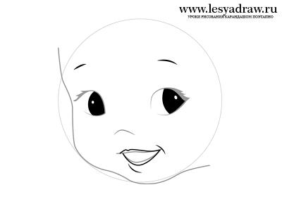 Как нарисовать лицо ребе
