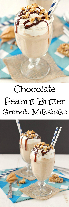 Chocolate peanut butter granola milkshake mykitchencraze