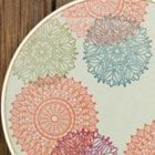 Stamped fabric hoop