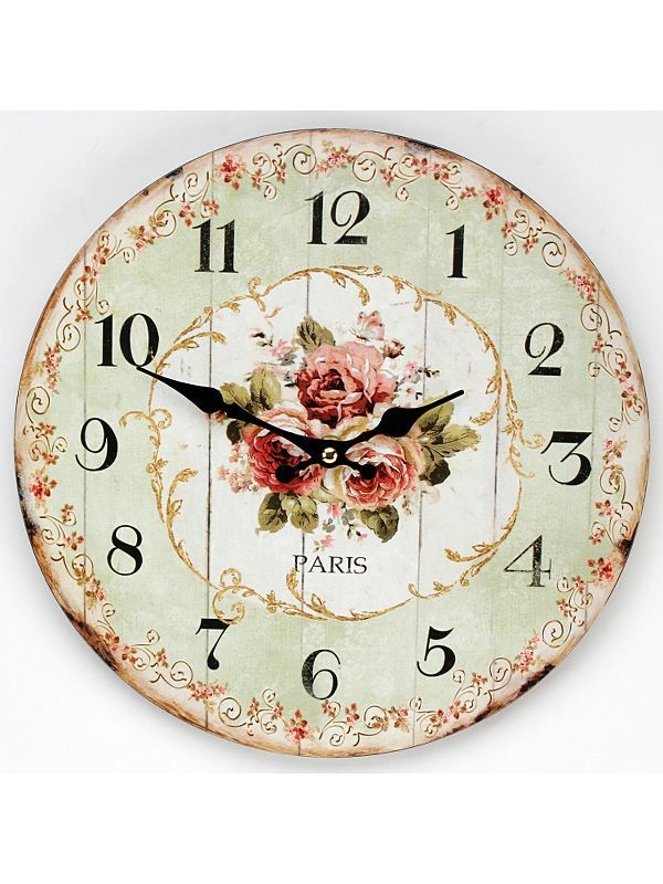 Ziffernblatt Rose. Beautiful Parisian rose design, clock face.