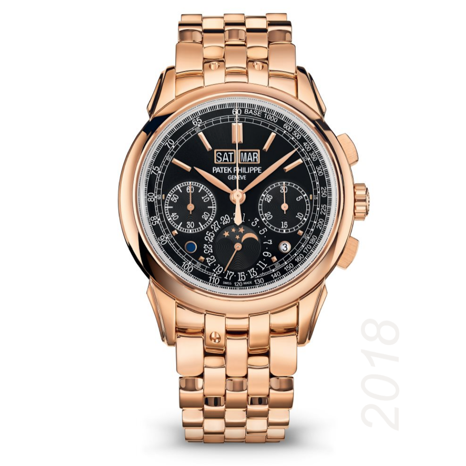 Patek Philippe 5270/1R-001 Men's Rose Gold Perpetual Calendar Chronograph  with Black Dial - Grand Complications | de Boulle Diamond & Jewelry |  Luxury watches for men, Mens rose gold watch, Patek philippe