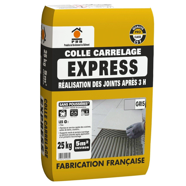 Mortier Colle Express Carrelage Mur Et Sol Gris 25 Kg Mortier Carrelage Sol