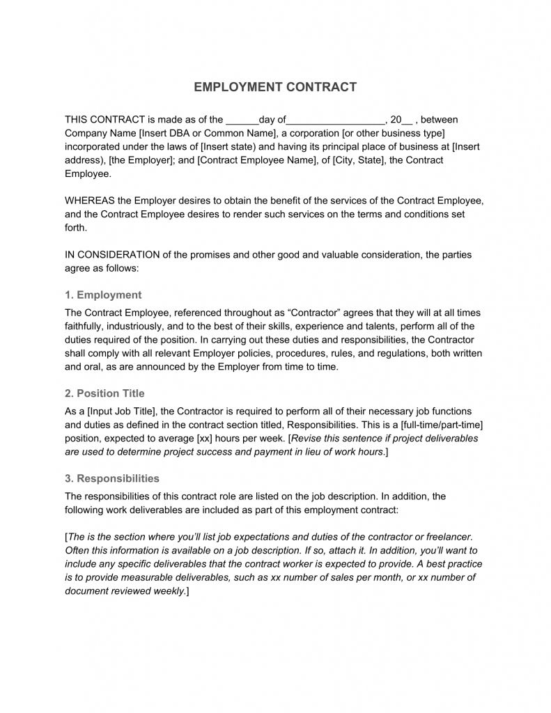 Employment Contract Definition What To Include Intended For Severance Agreement Template Best Creative Template In 2020 Contract Template Employment Best Templates