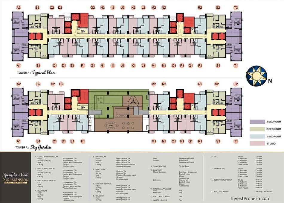 Puri Mansion Apartment Floor Plan Apartemen
