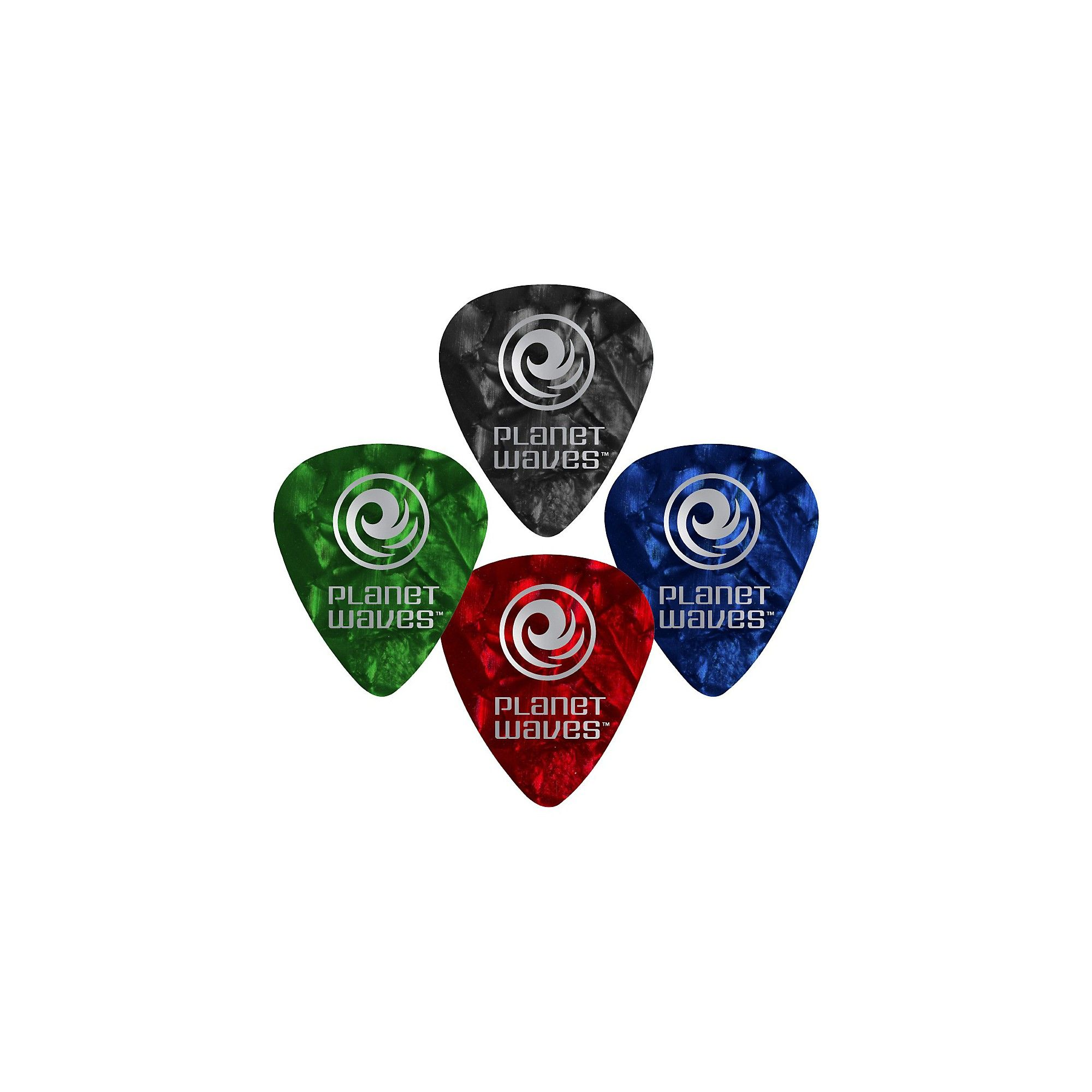 Planet Waves Red Pearl Celluloid Guitar Picks Light 25 pack