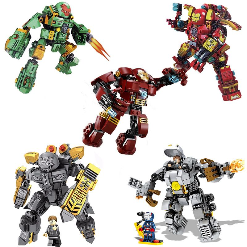 ⎡DRAGON BRICK ⎦Custom Iron Man Tony Stark Armor Mark 9 Lego Minifigure
